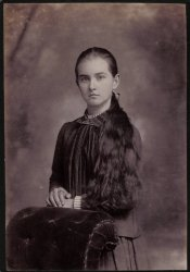 May Parker c. 1890, St Joseph Missouri