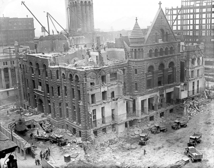 Detroit PO Demolition: 1931