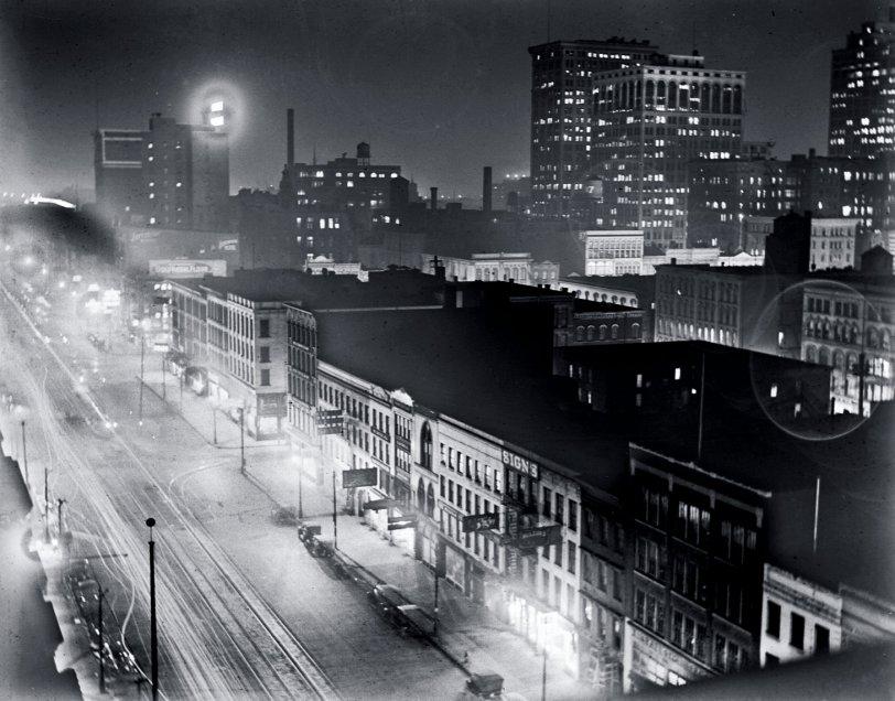 Detroit at Night, c.1910