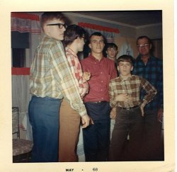 Dostie boys in plaid, May 1968