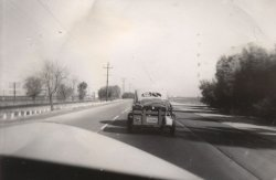 Driving home from vacation. 1940's