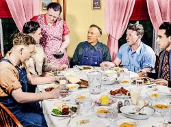 Farm Table (Colorized): 1943