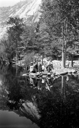 Mirror Lake in Yosemite: Mid-Fifties