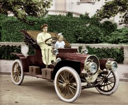Soccer Mom (Colorized): 1908