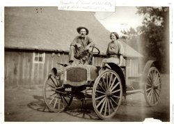 Great-Grandpa & Grandma with Old Betsy