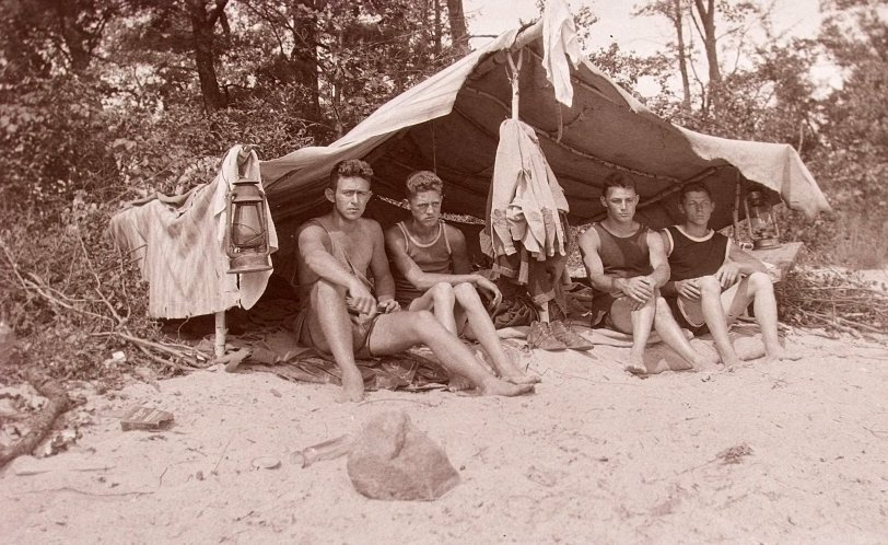 On the Beach: 1920