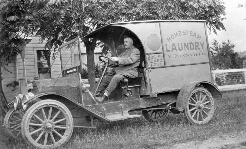 Home Steam Laundry Delivery: 1915