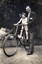 Little Miss on a Big Bike: 1929