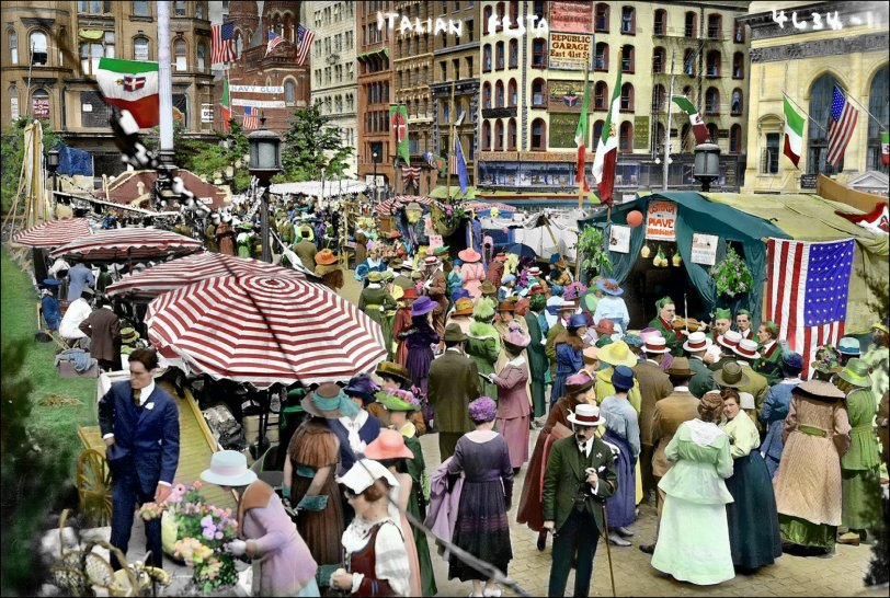 Italian Festa (Colorized): 1912