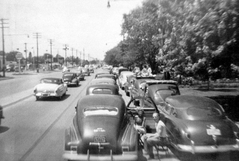 Indy 500 Traffic Jam: 1955