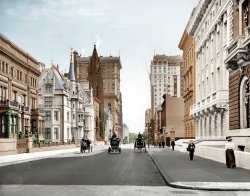 Fifth Avenue (Colorized): 1908