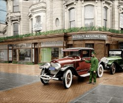 Drive-By Banking (Colorized): 1924