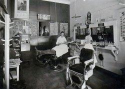 Nort Dakota barbershop, 1928