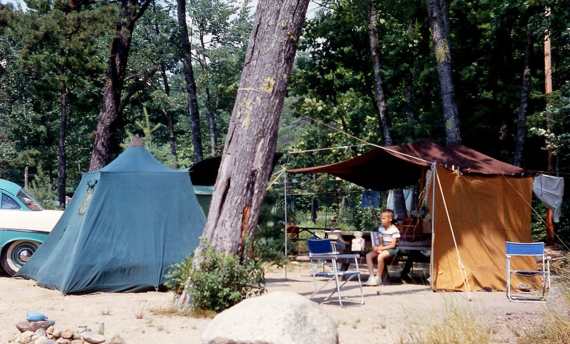 Camping at Sebago Lake: 1959