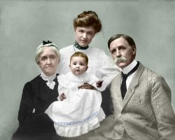 The Jackson Four (Colorized): 1904