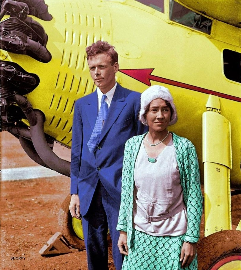 Charles and Anne (colorized): 1929
