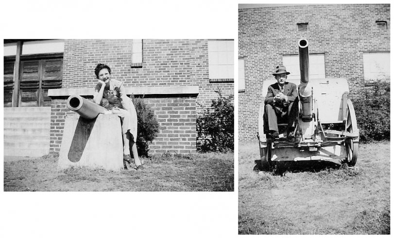 Mom and Dad at Selma Armory: 1940s