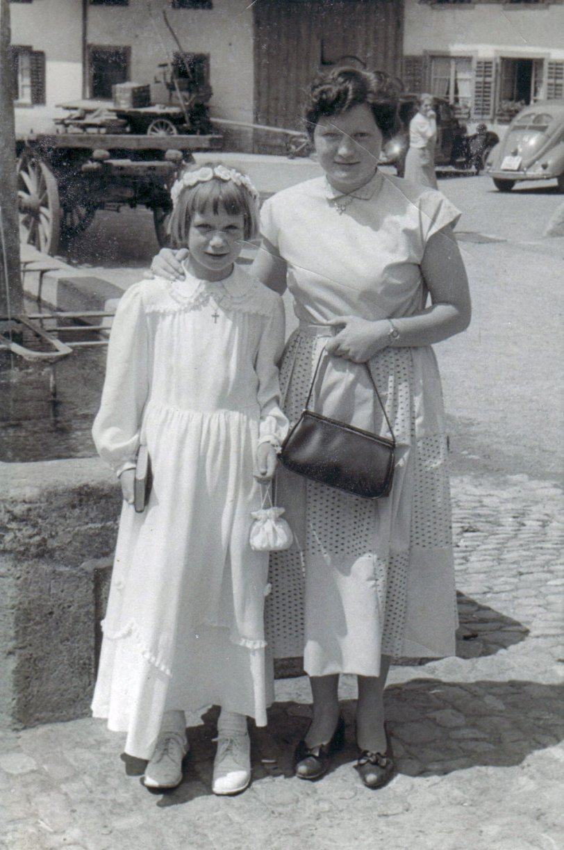 Mom and Katharina 1953 (Switzerland)