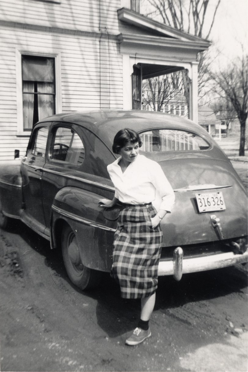 Woman and Car: c. 1955