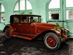Road Locomotive (Colorized): 1930