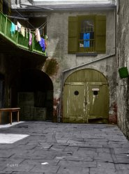 Behind the Gray Door (Colorized): 1925