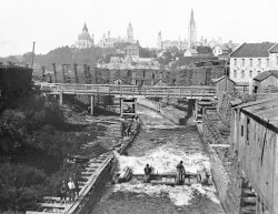 Ottawa Timber Slide: mid-1880s