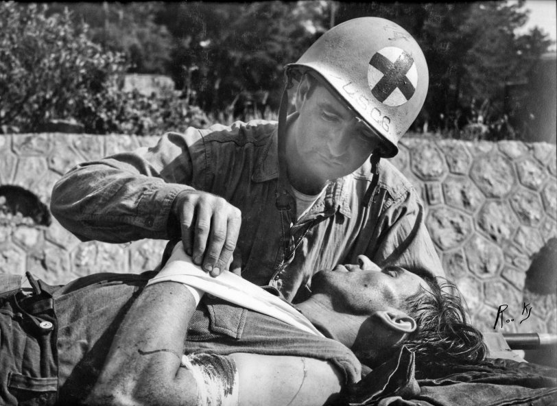 Treating Wounded German: 1944