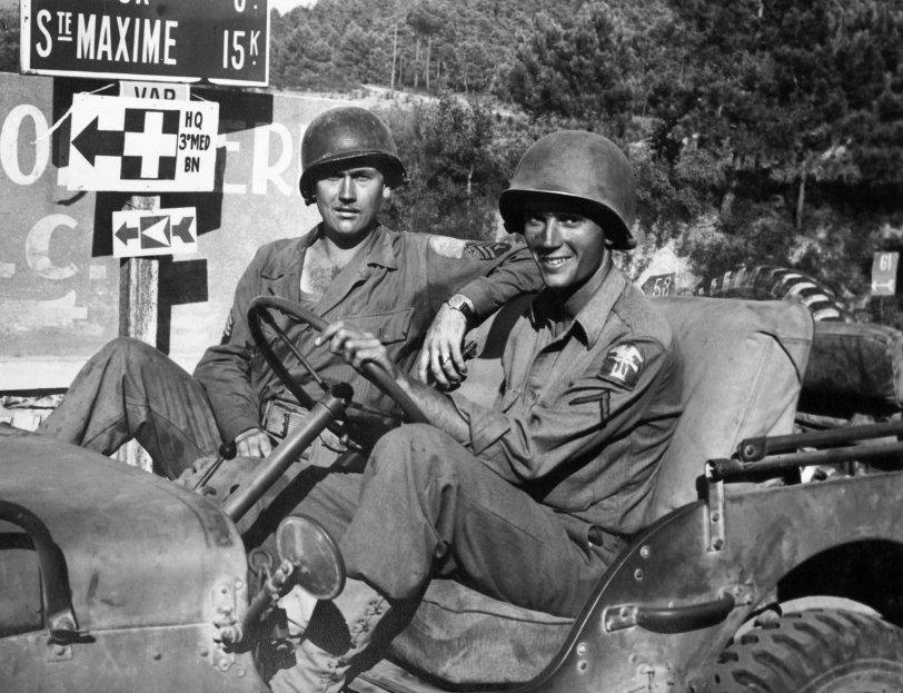 Army GIs in Southern France: 1944