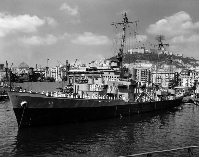 USS Duane in Italy: August 1944