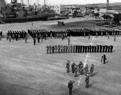 USS Duane Awards Ceremony: 1945