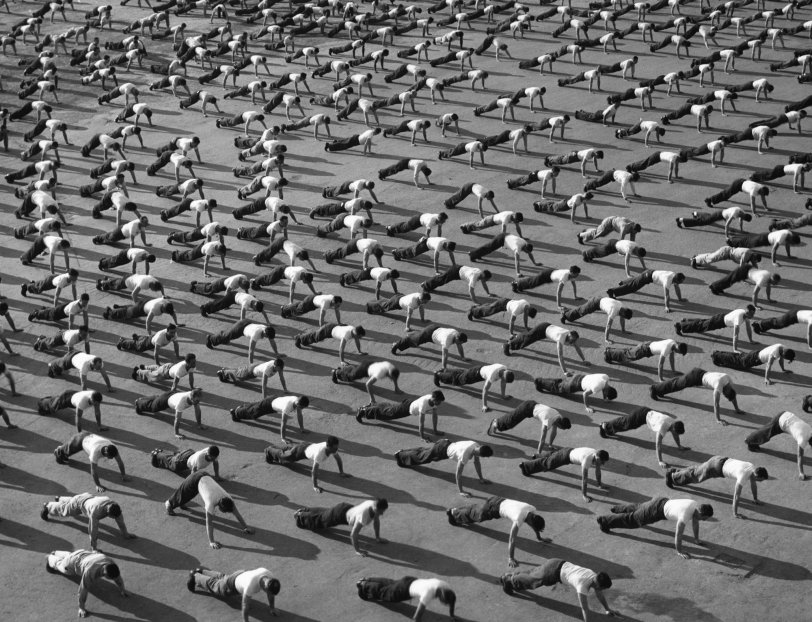 Morning Exercises in North Africa: c. 1945