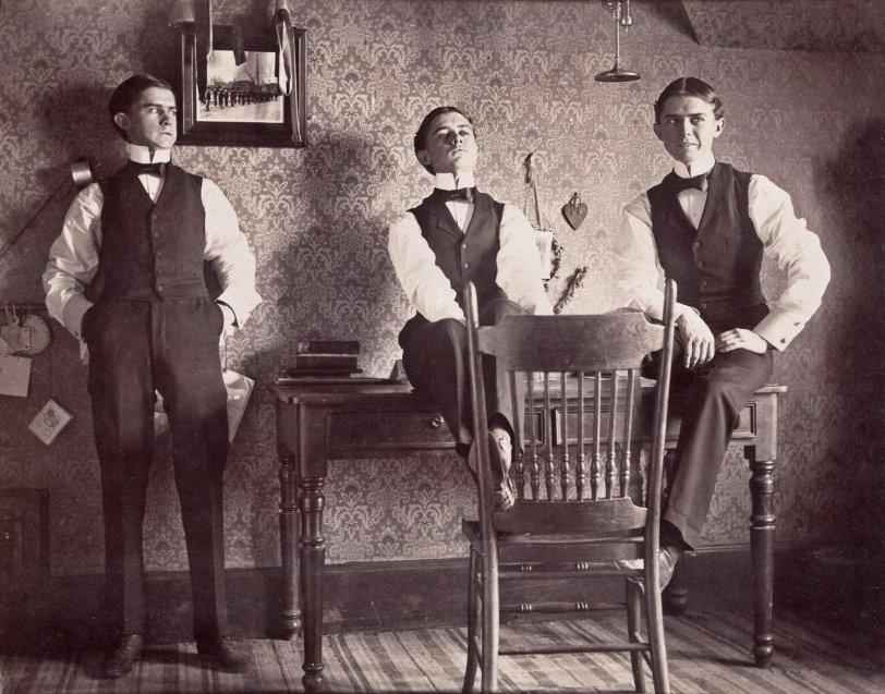 Triple Selfie: c.1898