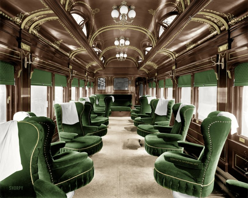 Parlor Car (Colorized):  1905