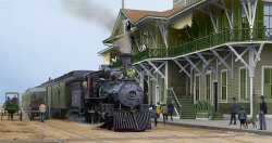 The Train in Pensacola (Colorized): 1906