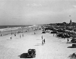 Cars on the Beach: 1950s
