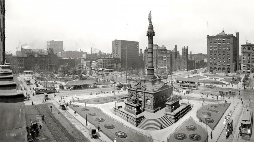 Public Square Cleveland 1907 Shorpy Old Photos
