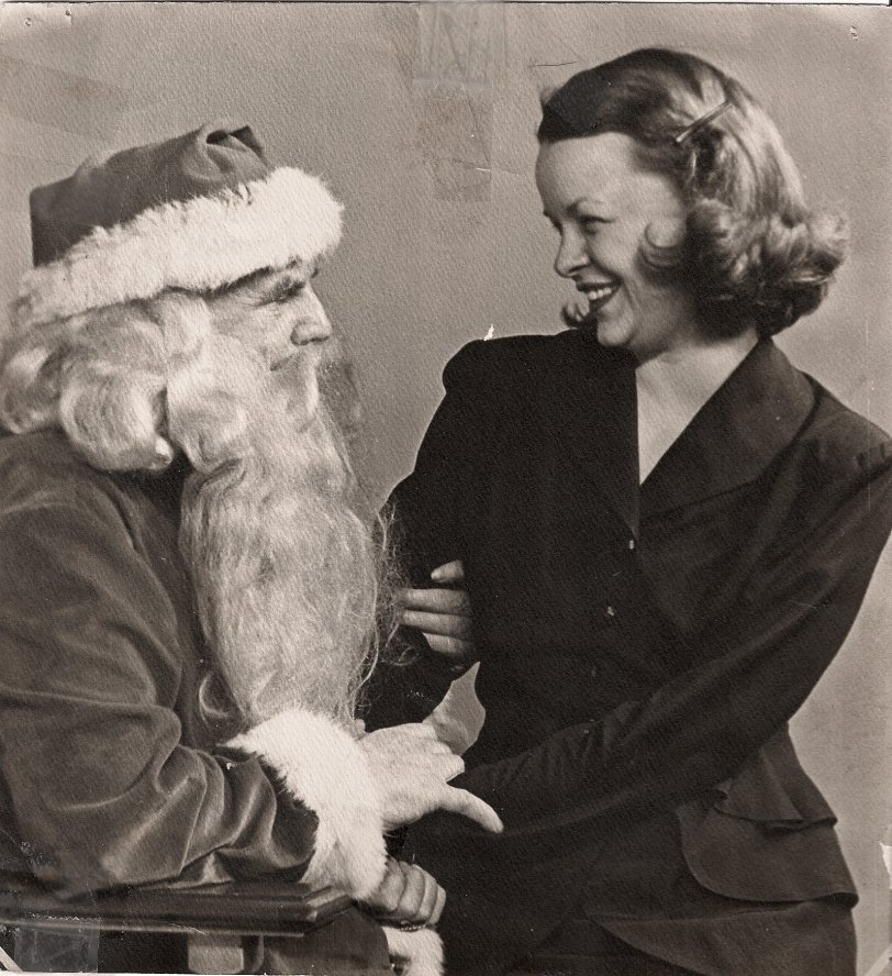 Mum on Santa's Lap: 1947