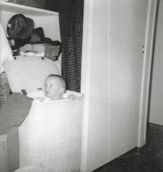 Baby in Basket: 1962