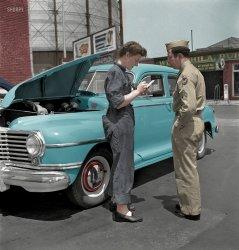 Serviceman, Service Woman (Colorized): 1943