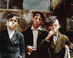 Skeeters Branch Newsies (Colorized): 1910