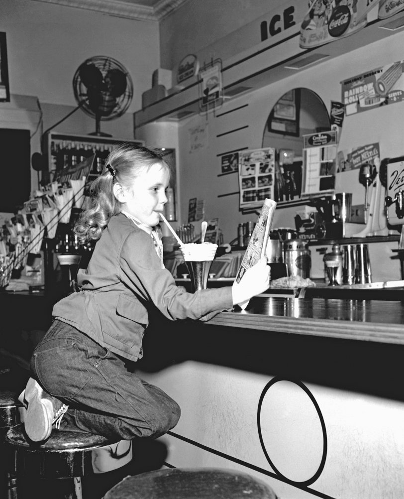 In a 1950s Soda Shop