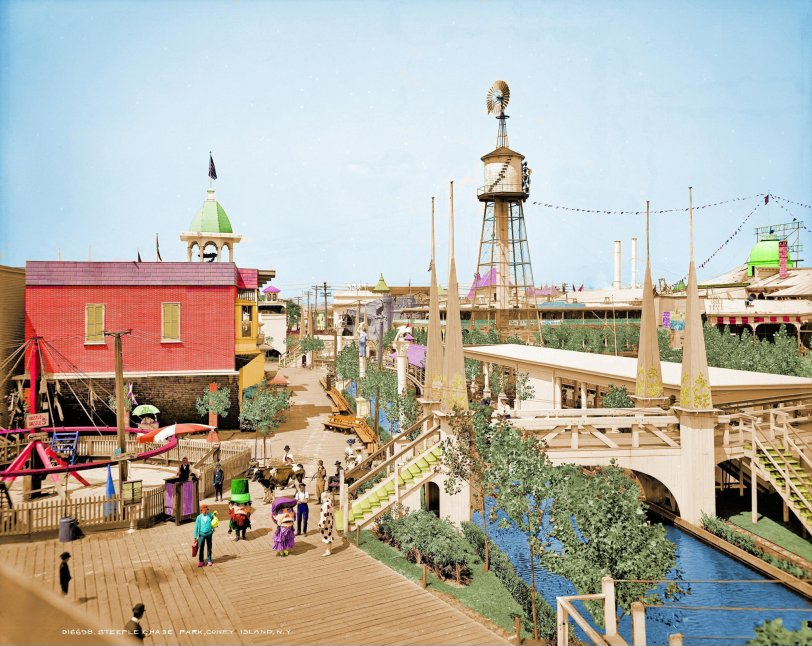 Coney Island (Colorized): 1903