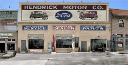 Hendrick Motor Co. (colorized): 1928