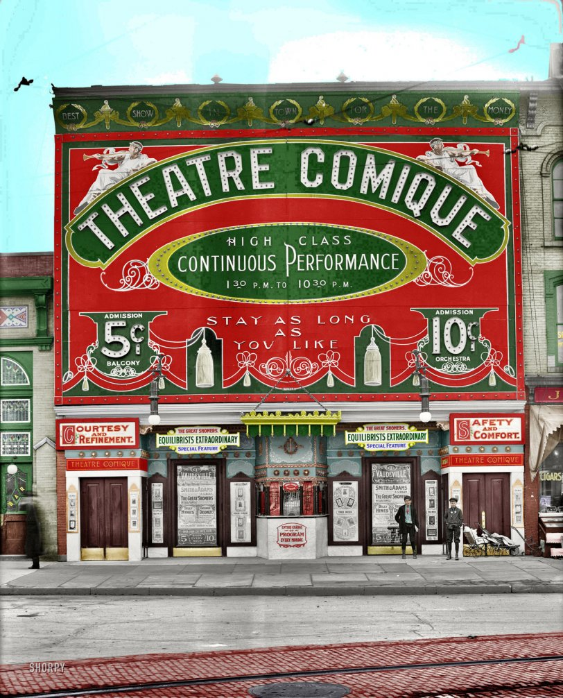 Theatre Comique in color