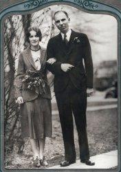 Theo and Agnes Wells wedding: 1929-1930