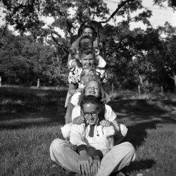 Human Totem Pole: 1953