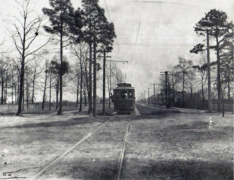 Trolley car, Columbia, South Carolina. c. 1900