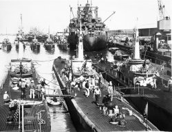 U.S. Subs in Fremantle 1946