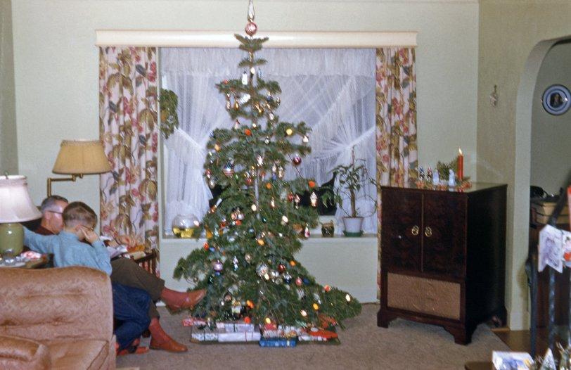 A Tterrace Christmas 1955 Shorpy Old Photos Poster Art