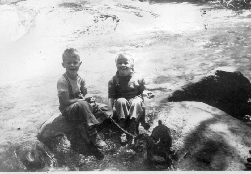 Dad and Aunt Susan in Yosemite: 1947